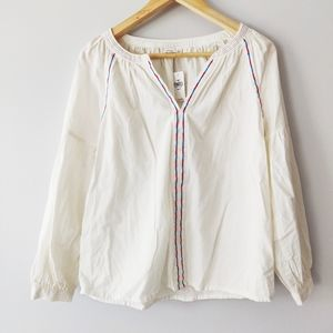 Gap Blouse with embroidered details NWT